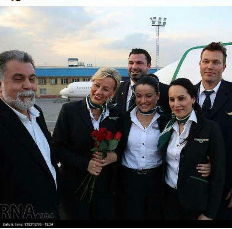 مهمانداران هواپیما آلمانی ایران فرودگاه مشهد